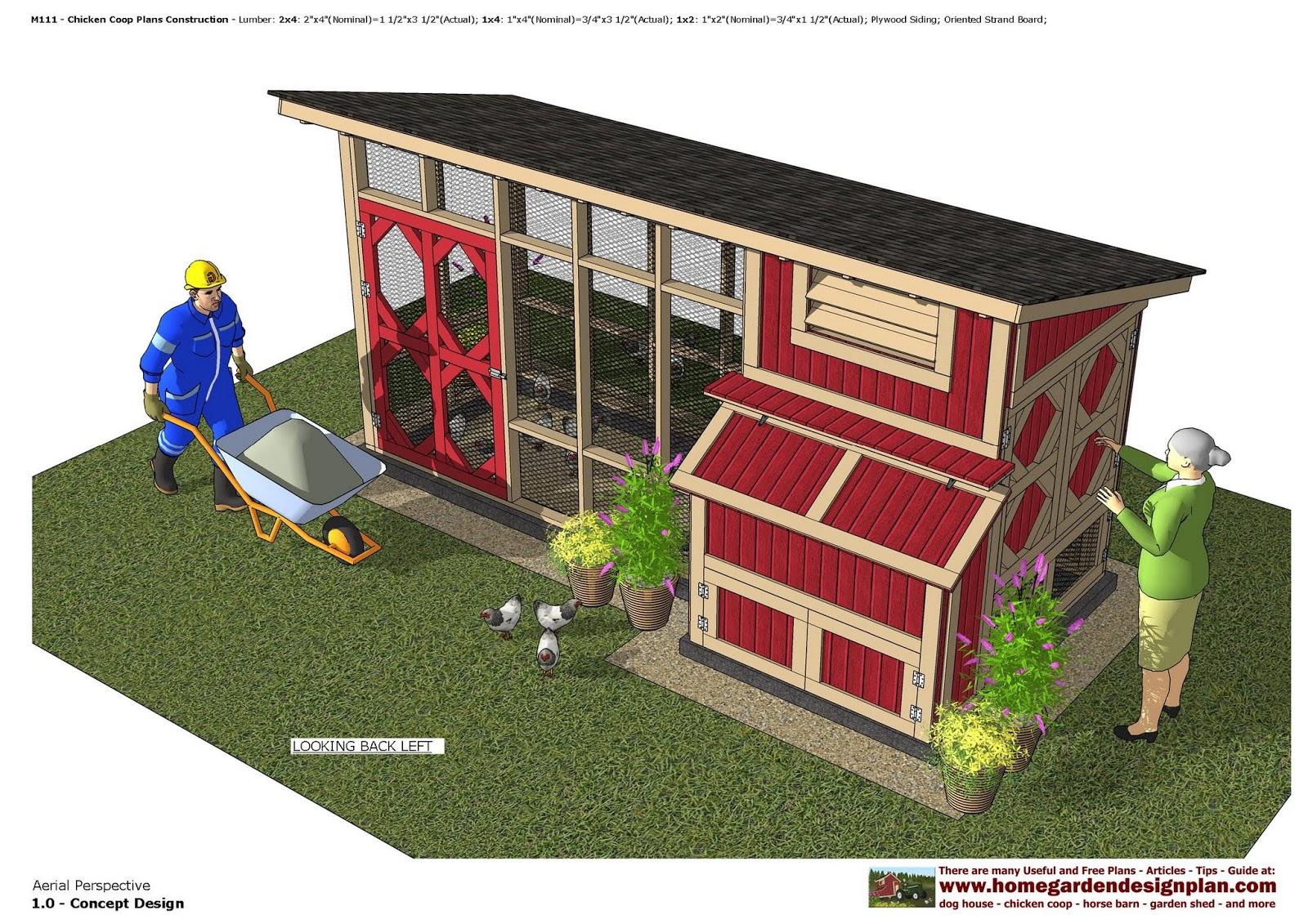M111   Chicken Coop Plans Construction   Chicken Coop Design   How To Build  A Chicken Coop