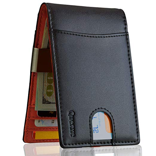 AMAZON - 50%OFF  Slim Front Pocket RFID Blocking Wallets for men Till Aug 8th