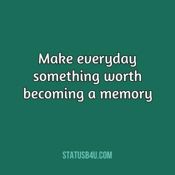 Best Memories Status & Quotes in English