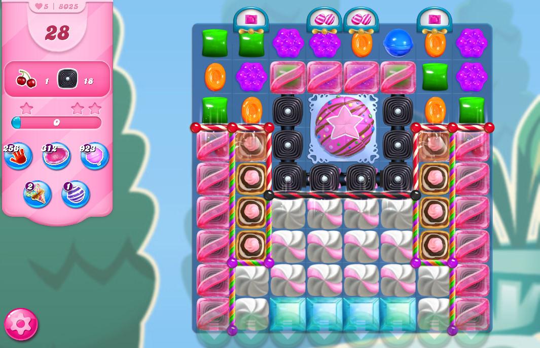 Candy Crush Saga level 8025