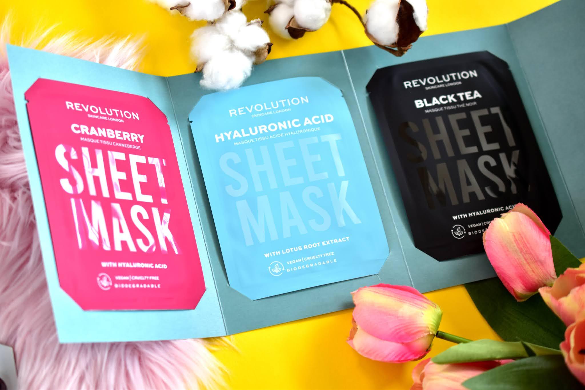 revolution skincare dehydrates skin sheet masks