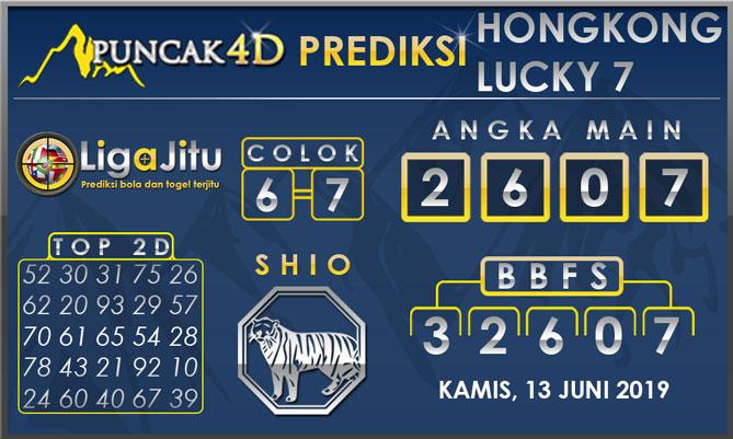 PREDIKSI TOGEL HONGKONG LUCKY7 PUNCAK4D 13 JUNI 2019