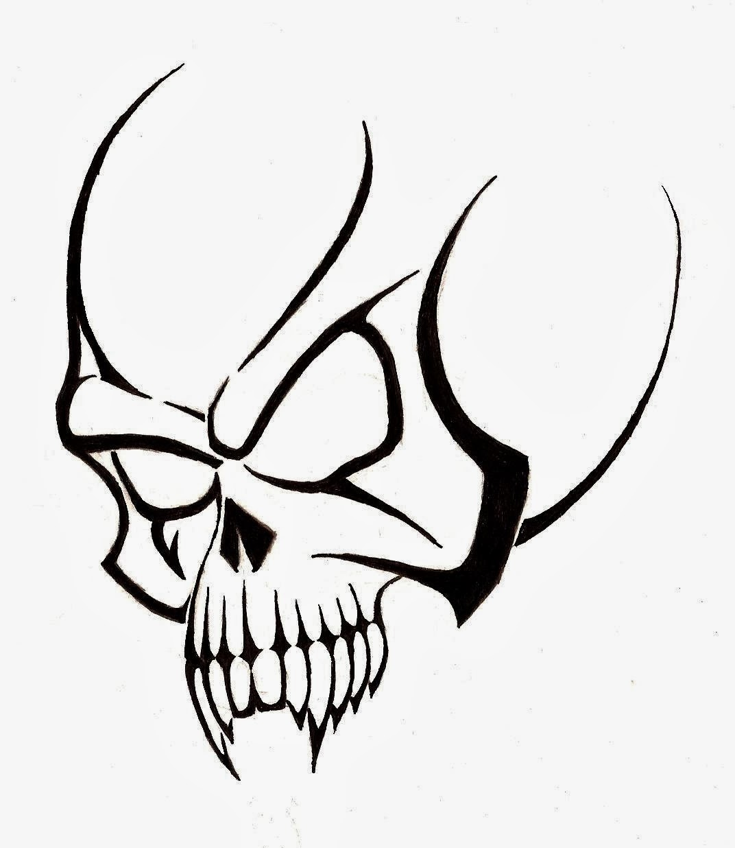 Free skull tattoo designs to print - Free Skull Tattoo Designs To Print 21