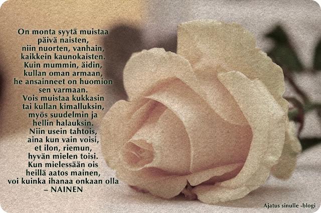 naistenpäivä runo teksti