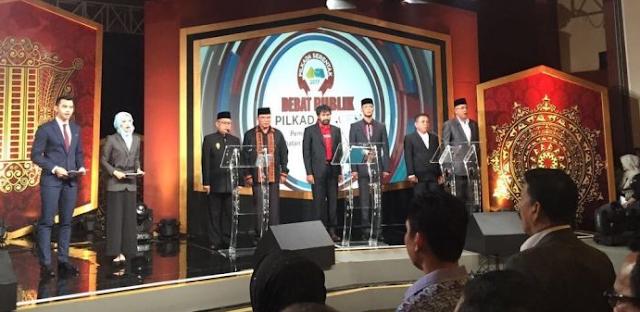 Debat Terakhir Cagub/cawagub Aceh, Live di iNews-TV