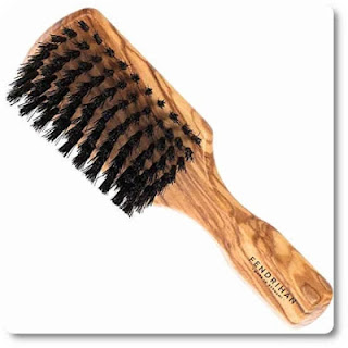 4 Fendrihan Men's Hairbrush Pure Boar Bristle with Real Olivewood Handle 7 Inches