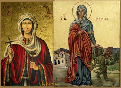 Η Αγία Μαρίνα και η αγιογραφία της (17 Ιουλίου)