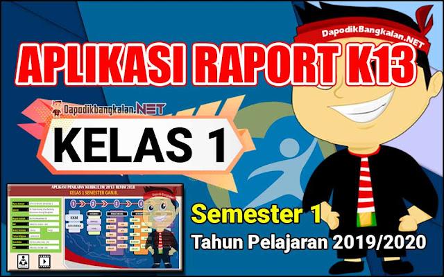 Aplikasi Rapor Kelas 1 Semester 1 Kurikulum 2013 Tahun Pelajaran 2019/2020
