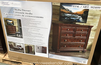 Costco 1024899 - Place the Universal Broadmoore Media Dresser in any bedroom and now you'll have a spot for your TV too