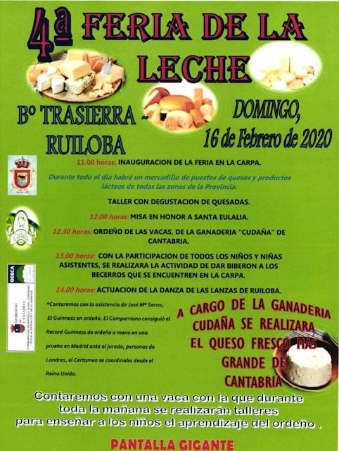 4° Feria de la leche en Ruiloba