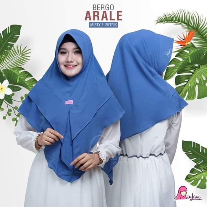 Jilbab Terbaru Instan Bergo Arale Panjang Cantik Harga Murah Warna Biru