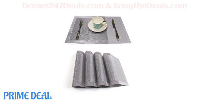 50% OFF Placemats for Dining Table--4 or 6 sets