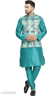 Dupion Silk Men's Kurta Sets
