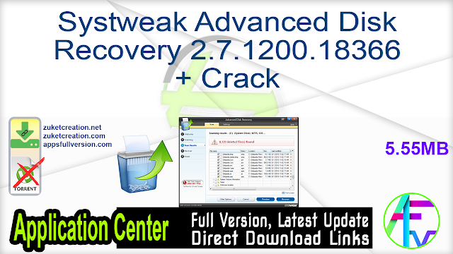 Systweak Advanced Disk Recovery 2.7.1200.18366 + Crack