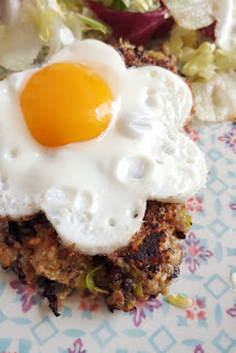 Receta hamburguesas de quinoa, lentejas y puerro.