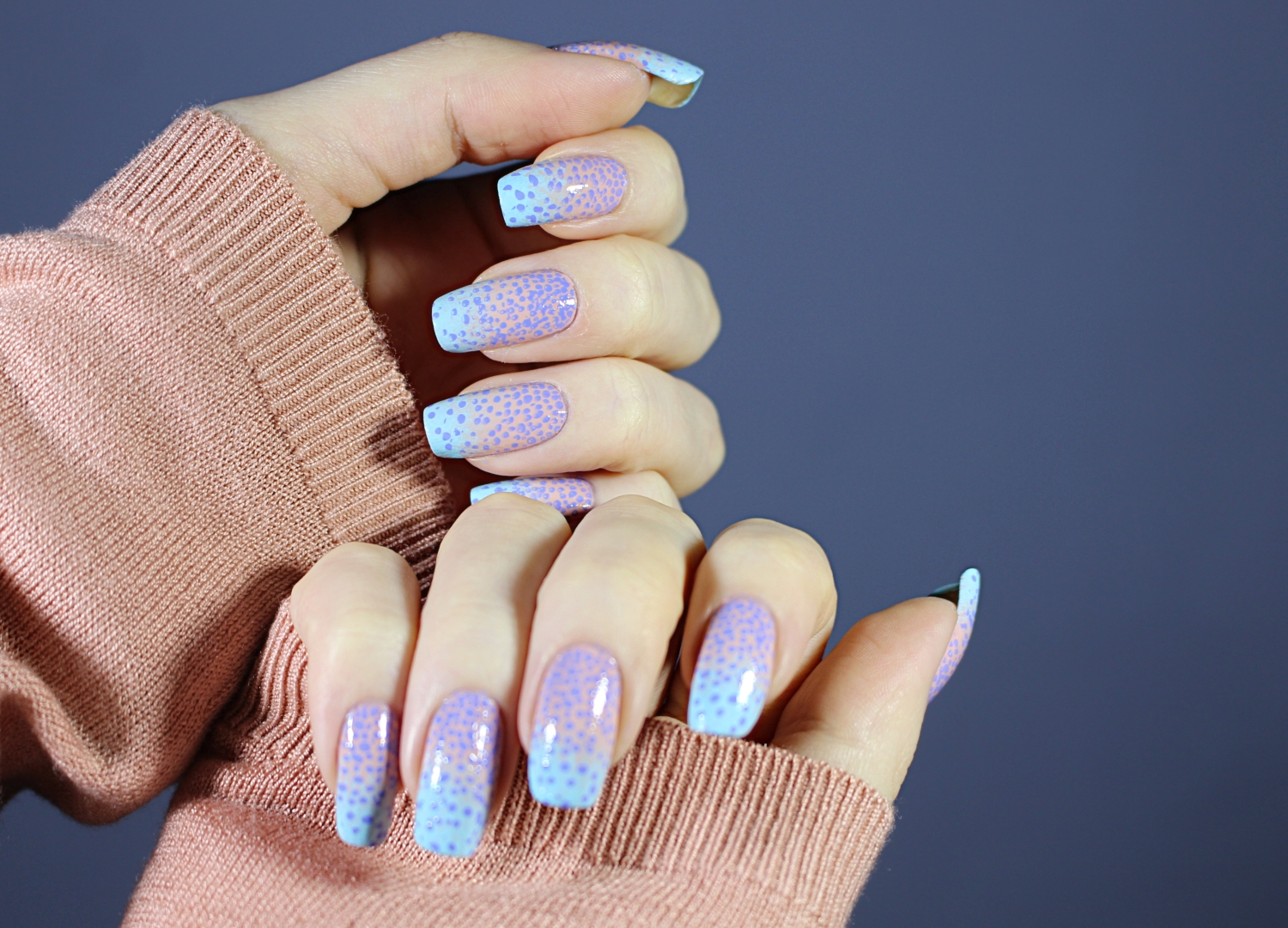 cute pastel nails close up