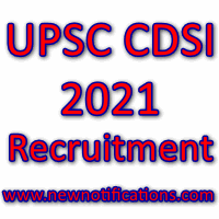 UPSC CDSI  2021