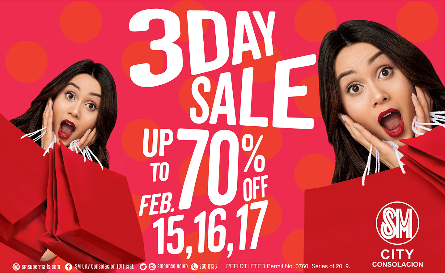 SM City Consolacion brings 3-Day Sale on February all for the Love of Shopping