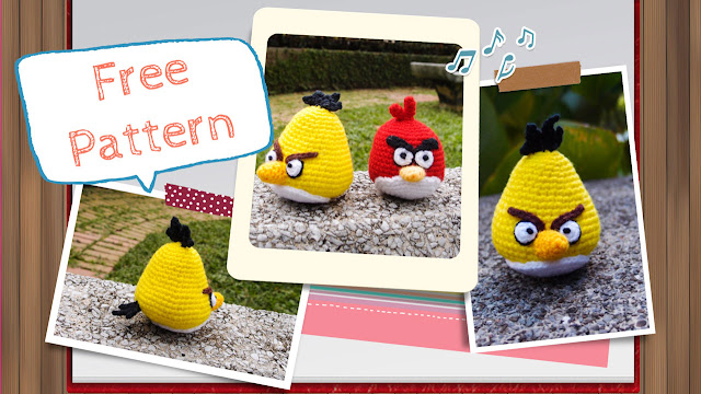 crocheted yellow angry bird amigurumi pattern