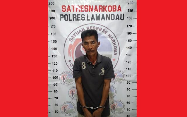 Dari Informasi Warga, Satresnarkoba Polres Lamandau ciduk Pria membawa Narkotika