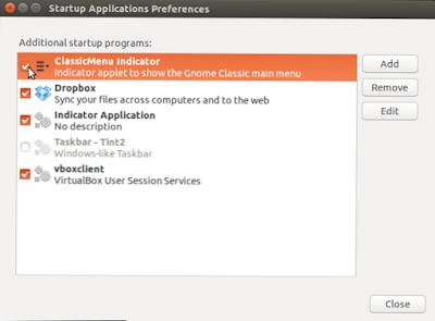 Bagaimana cara aplikasi startup ubuntu