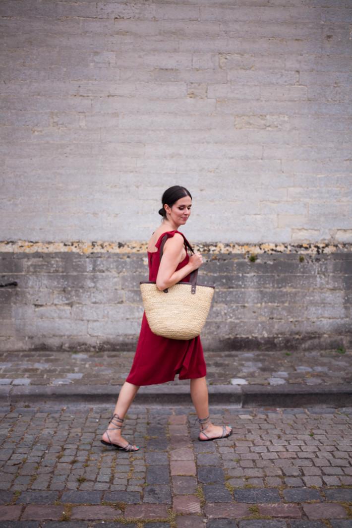 red Closet London La Dolce Vita dress, roman sandals