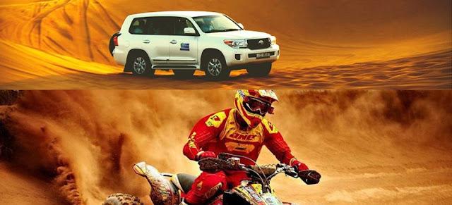 Get 45% off on desert safari and quad bike.