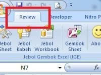 Menampilkan Tab Review Saja Pada Ribbon Excel - Custom UI Editor