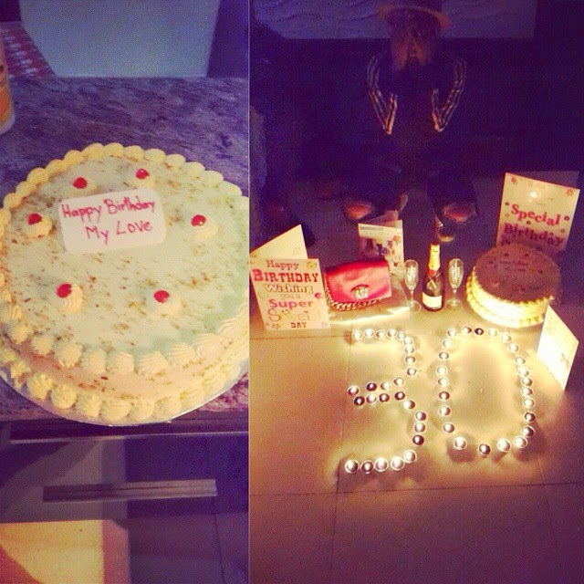2face Idibia Goes All Romantic, Throws Private Birthday