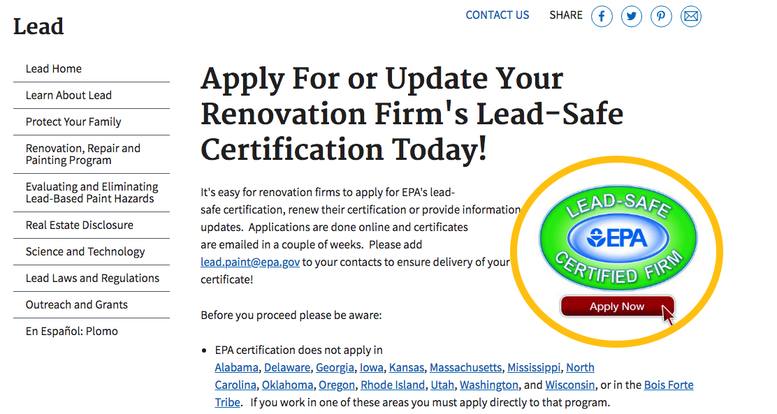 Zack Academys Blog Rrp Rule Registering As A Lead Safe Firm With Epa