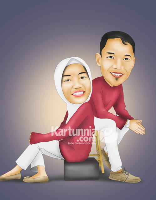 Karikatur Couple Pasangan Romantis