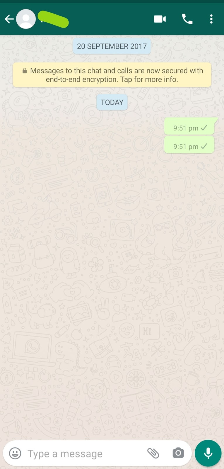 invisible character Whatsapp