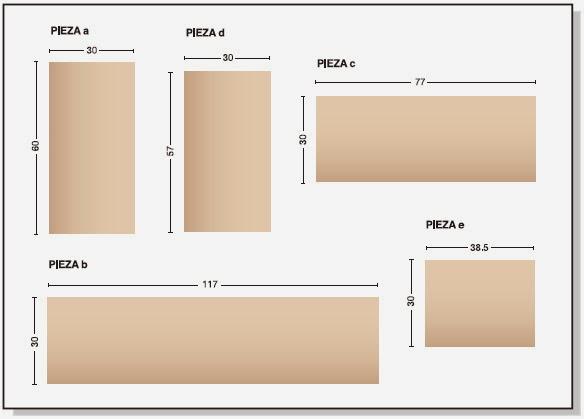 Plano de mueble de melamina proyecto 2 alacena de cocina for Como se dan las medidas de un mueble