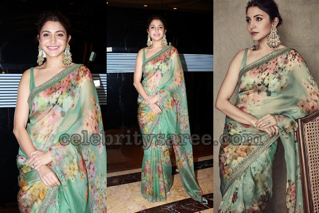 Anushka Sharma in Floral Saree