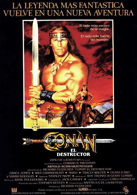 Póster película Conan el Destructor