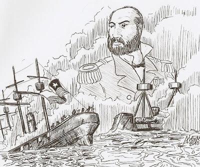 Breve Historia Universal Dibujo Del Combate Naval De
