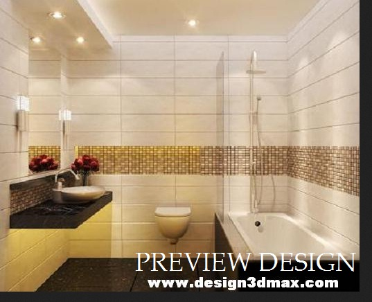Jasa Design Online Interior Kamar Mandi Bathup Nuansa Warna Coklat Krem Eksklusif Modern
