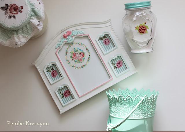 pastel-blog-english-home-çerçeve-vintege-mint-ikea-saksı-yeşil-lav-turkıye-şişe-mona-rose-flowers-