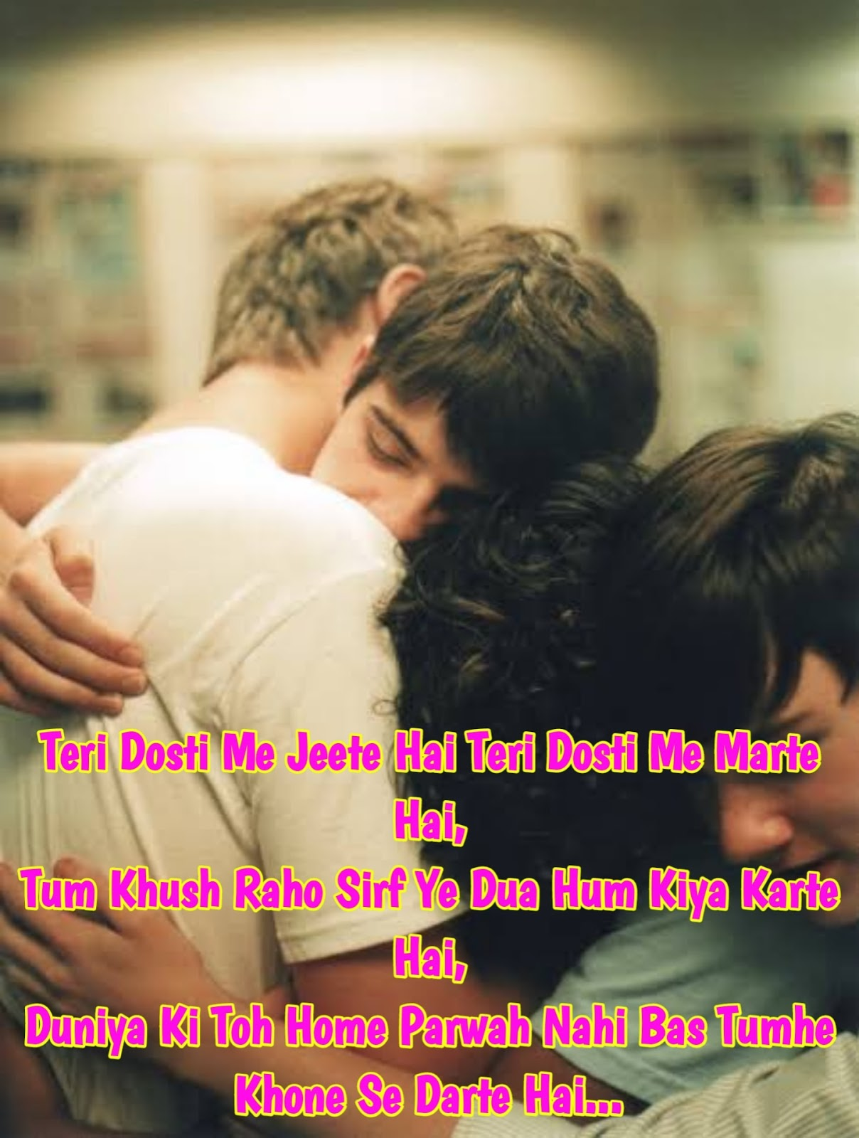 Friendship shayari in English with images