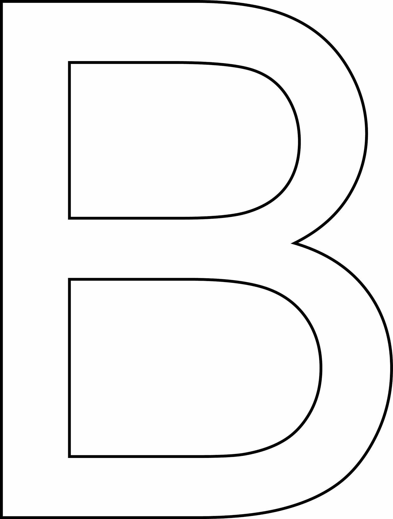 Letra b - maiúscula para imprimir