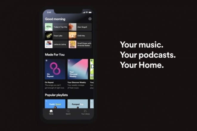 The mobile Spotify app
