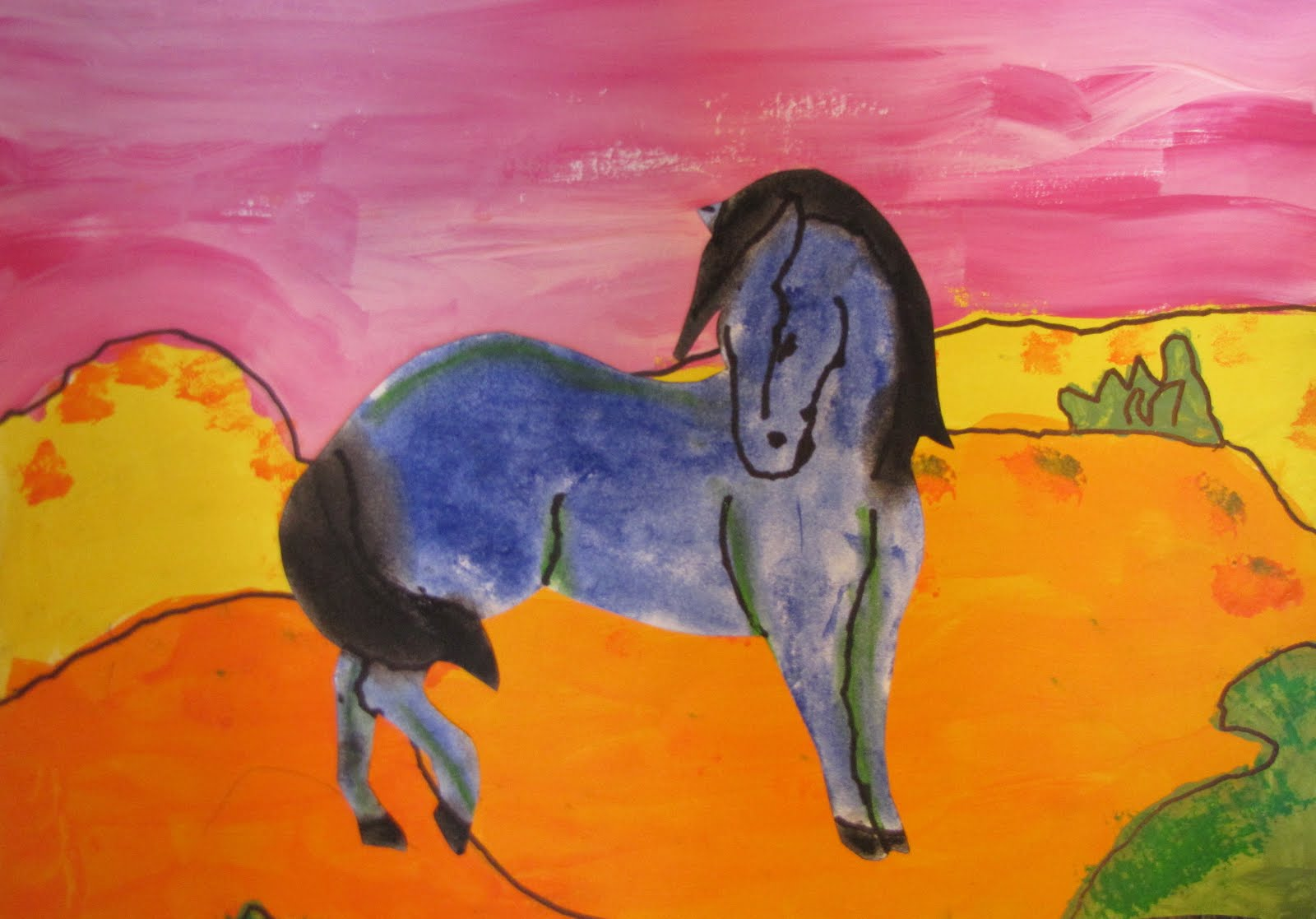Pink Elephants And Blue Horses Franz Marc For Preschoolers