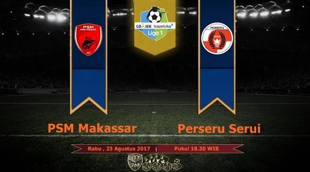Prediksi Bola : PSM Makassar Vs Perseru Serui , Rabu 24 Agustus 2017 Pukul 18.30 WIB
