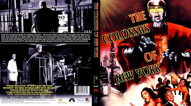 Carátula dvd: El coloso de Nueva York (1958)