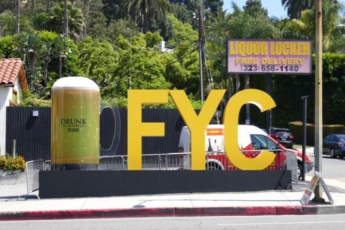Drunk History giant beer mug Emmy FYC 3D sign Sunset Strip