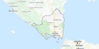 Peta provinsi Lampung