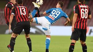 Prediksi Skor Napoli vs AC Milan 19 April 2020