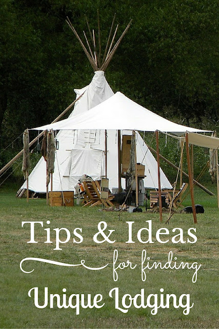 Tips for finding unusual lodging