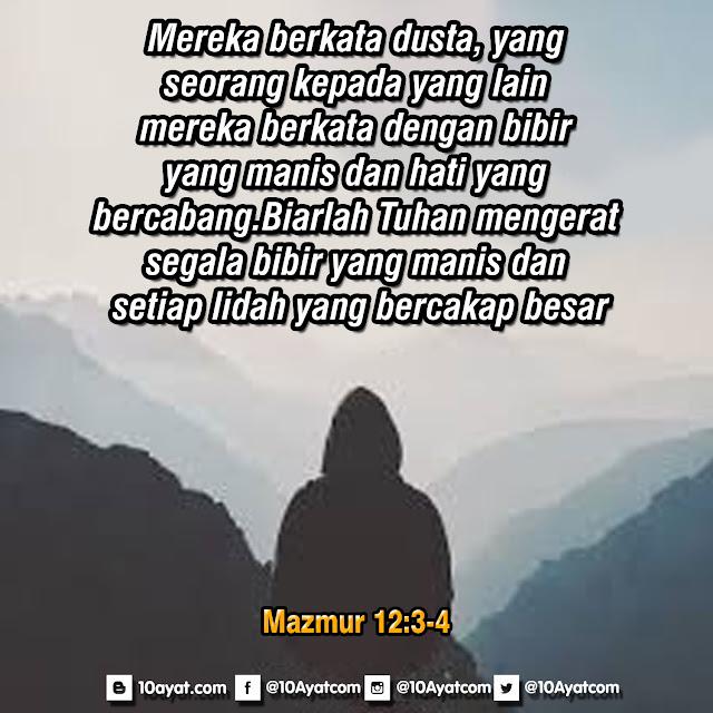 Mazmur 12: 3-4