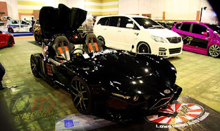 Lowo Ireng Supercar on Surabaya Auto Car Show